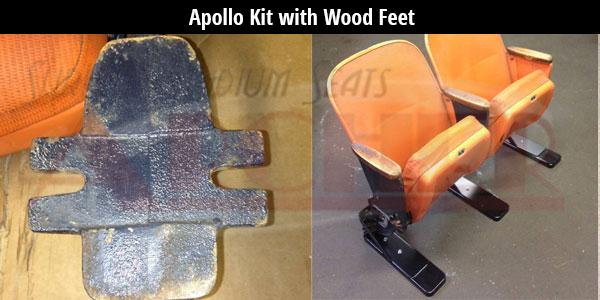 Astrodome Apollo Kit with Wood Feet