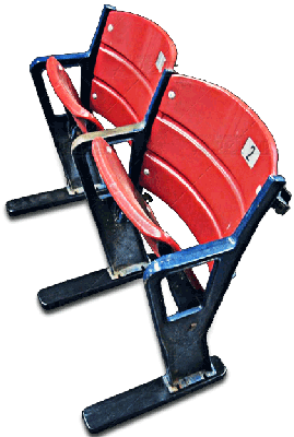 A double Fenway Park stadium seat on our Wood Feet